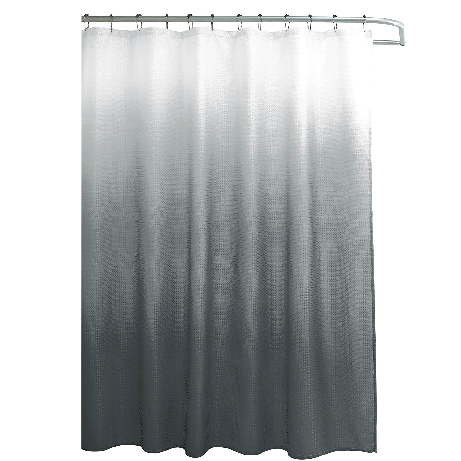 Beaded door curtains for kids - Amazon Com Creative Home Ideas Ombre Textured Shower Curtain With Beaded Rings Dark Grey Home Kitchen