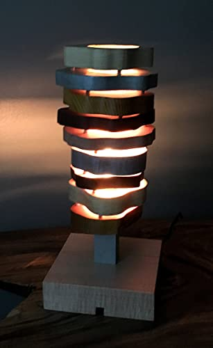 Amazon.com: Sliced Lamp - Wood Accent/Table Lamp: Handmade