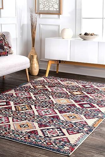 nuLOOM Kamala Vintage Aztec Area Rug, 7 10 x 11 , Multi