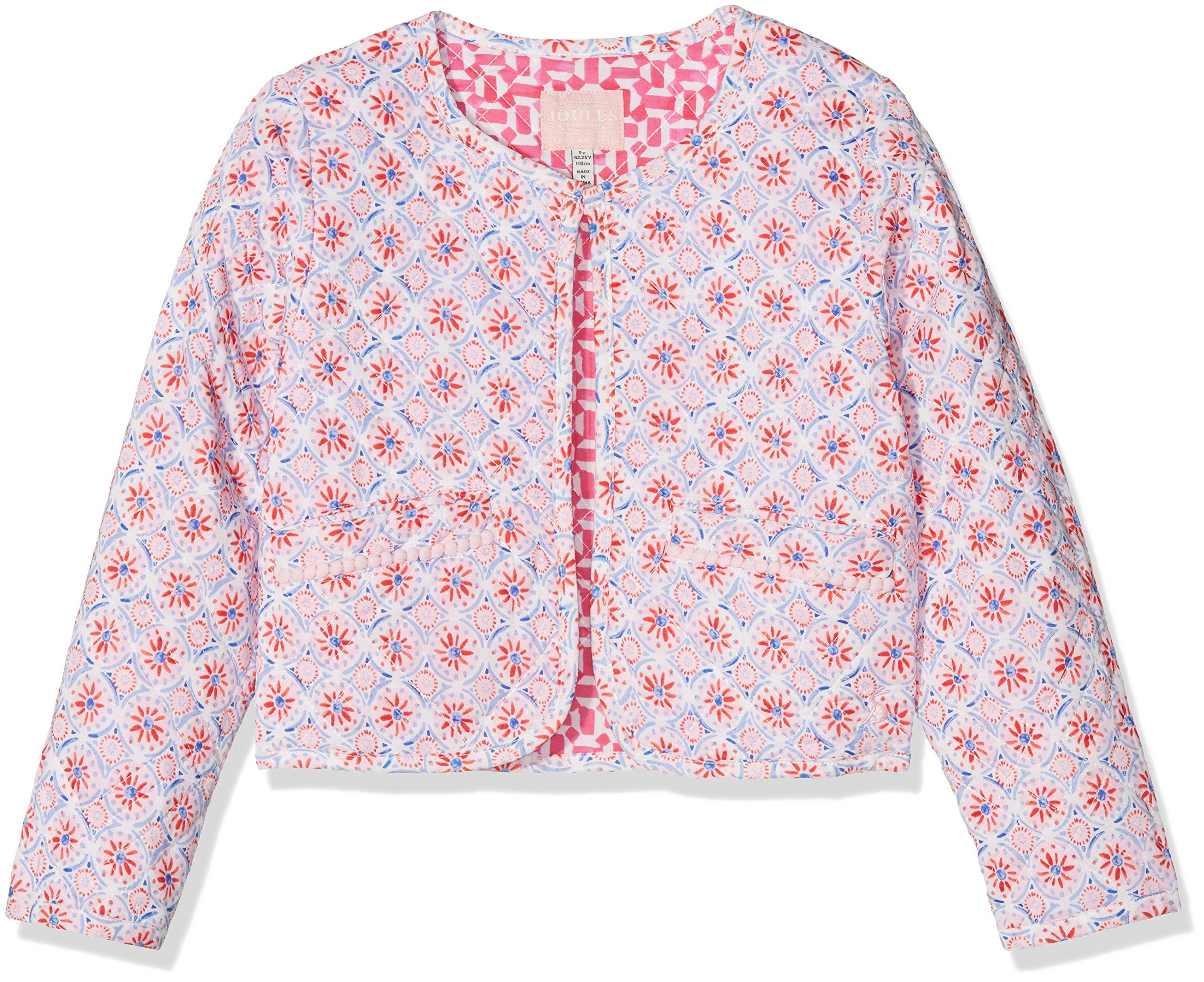 Joules Big Girls' Bibi, Cream Summer Mosaic, 4