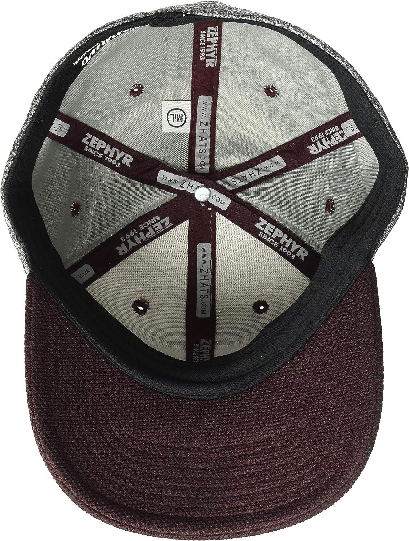 Medium//Large NCAA Zephyr Virginia Tech Hokies Mens Insignia Platinum Logo Snapback Hat Team Color//Heather Gray