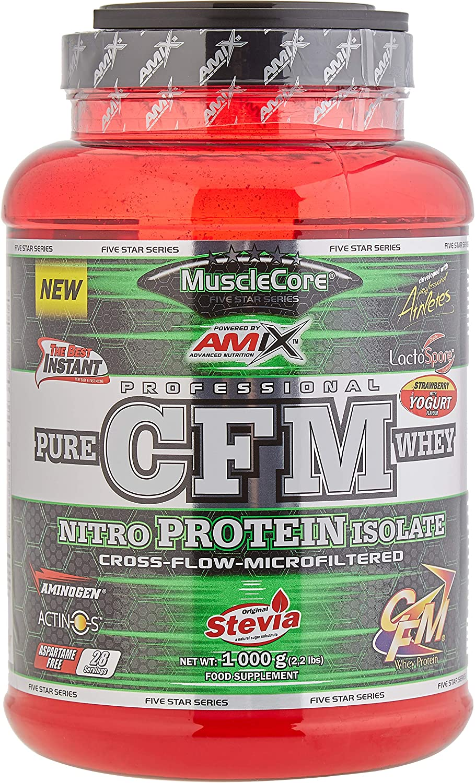 AMIX Cfm Nitro Whey With Actinos 1 Kg Fresa-Yogurt 1 1000 g