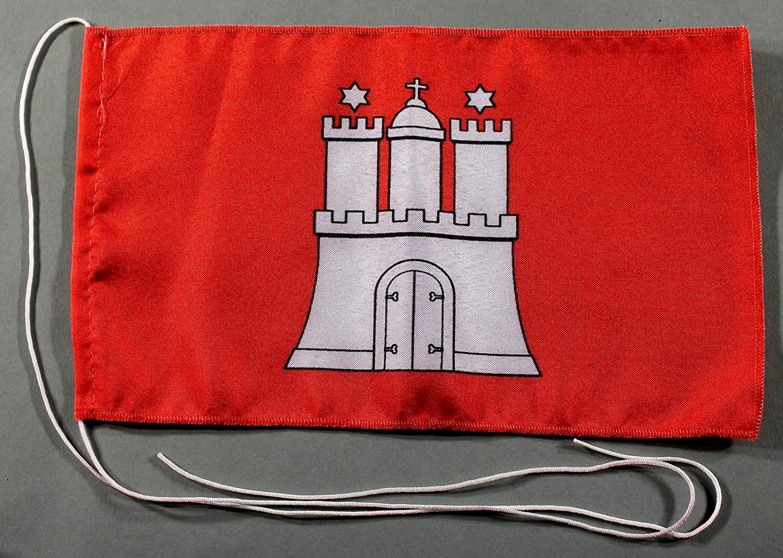 Hessen Tischflagge 15x25 cm in Profiqualit/ät wahlweise mit oder ohne 42 cm Massivholz Tischst/änder