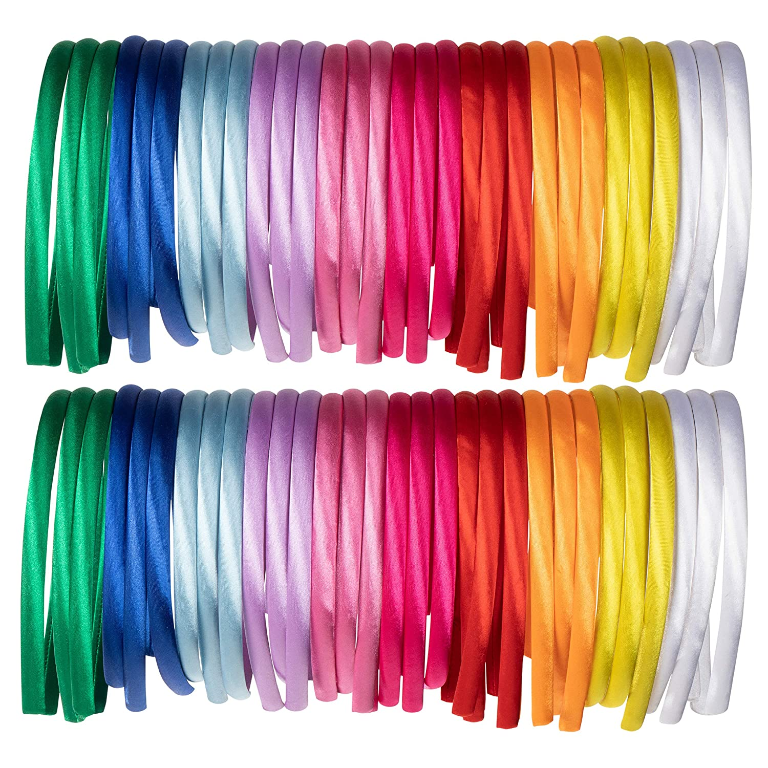 10PCS Satin Metal Craft Headband Mixed Color Band  HairCovered 5mm