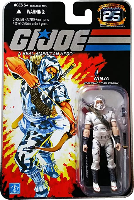GI Joe 25th Anniversary: Storm Shadow (Cobra Ninja) 3.75 Inch Action Figure