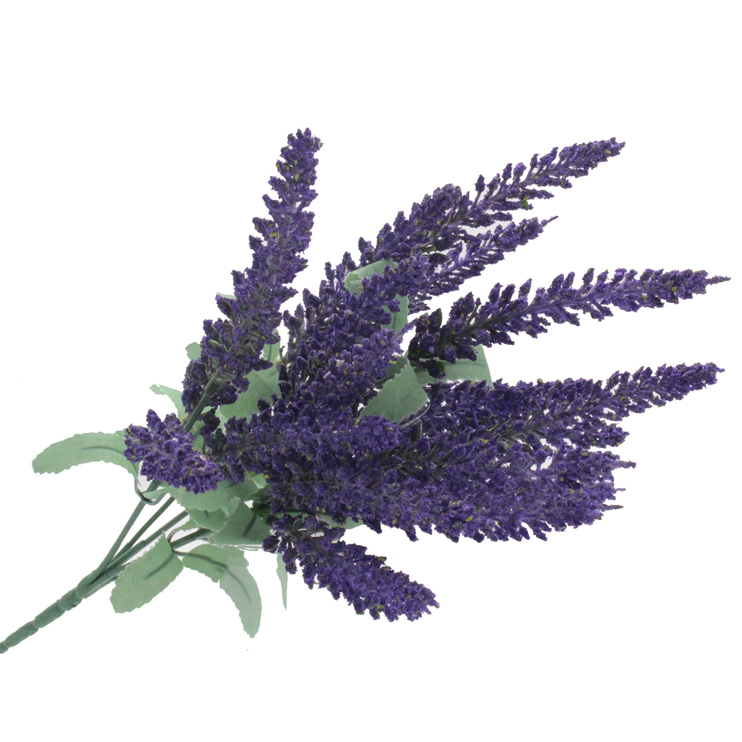 kmkaren Artificial Flowers Lavender Bouquet in Purple Artificial plant for Home Decor Wedding Garden Patio Decoration 6 Bundles