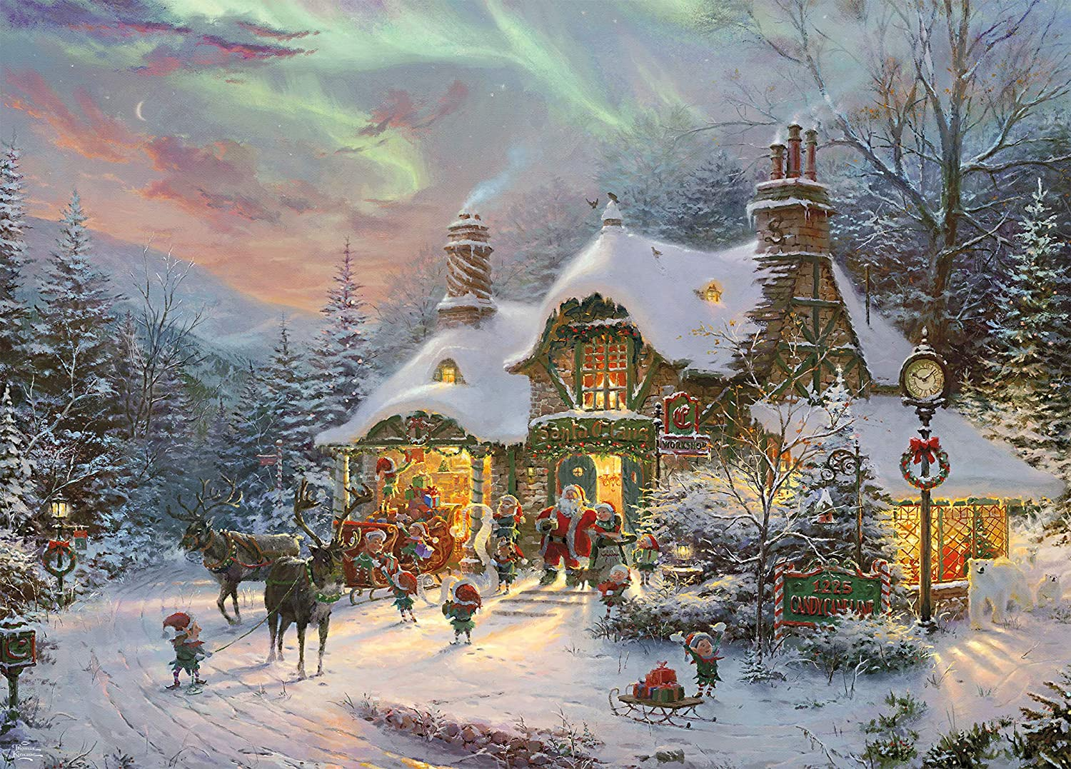 Ceaco Thomas Kinkade Santa Night Before Christmas Puzzle - 1000 Piece