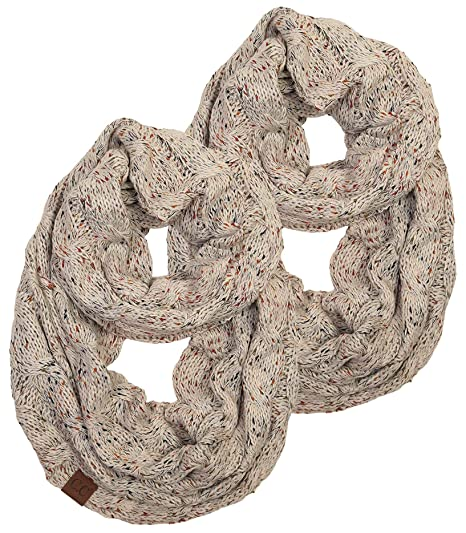 632df14d8 S1-2-6033-67 Infinity Scarf Bundle - Confetti Oatmeal (2 PACK ...