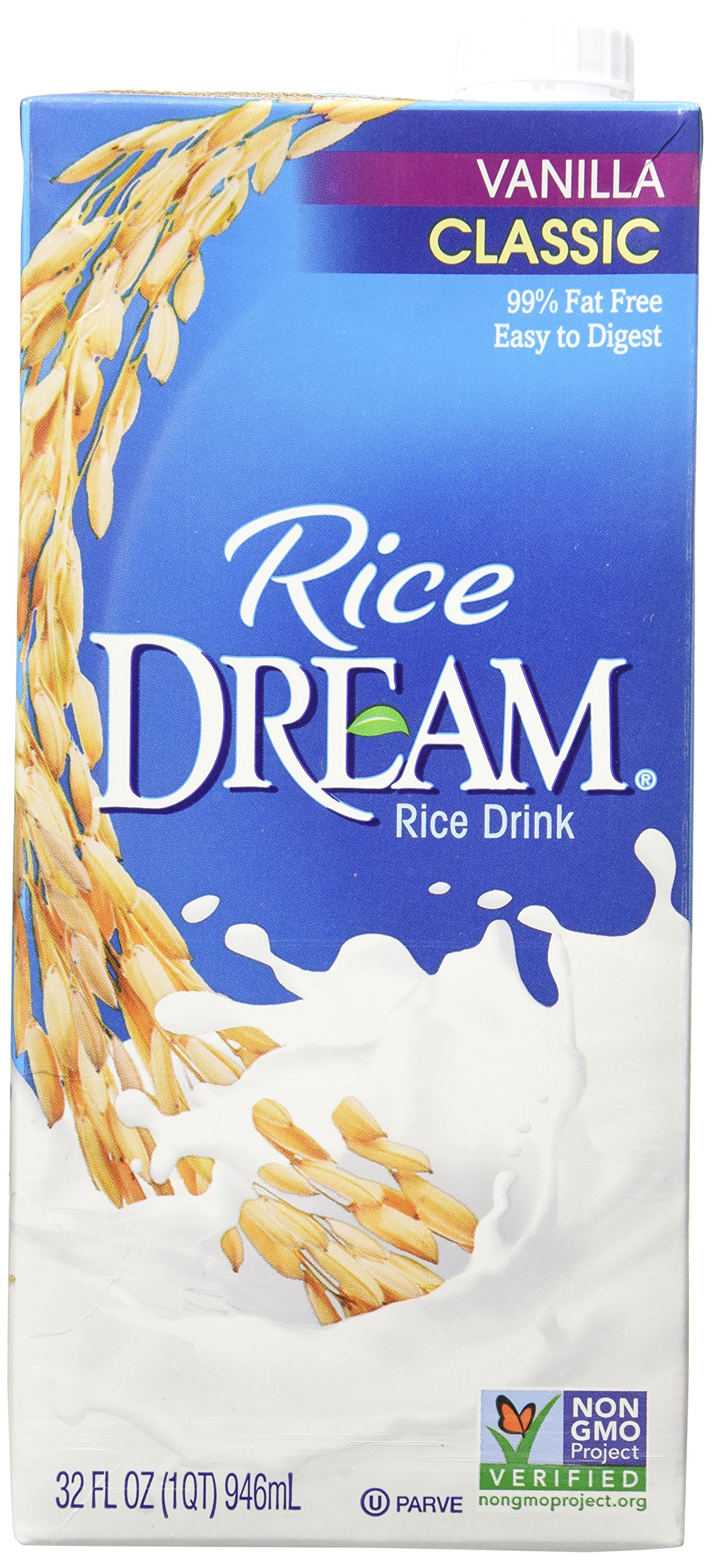 RICE DREAM Enriched Vanilla Rice Drink, 32 fl. oz. (Pack of 6)
