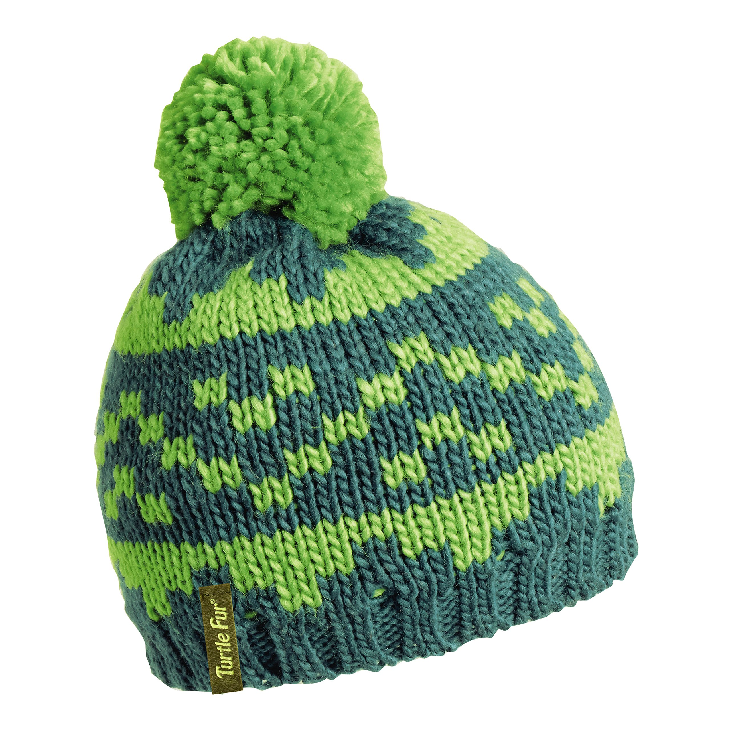 7dfbdf79bde Turtle Fur Side Step Boy s Classic Pom Winter Hat Evergreen