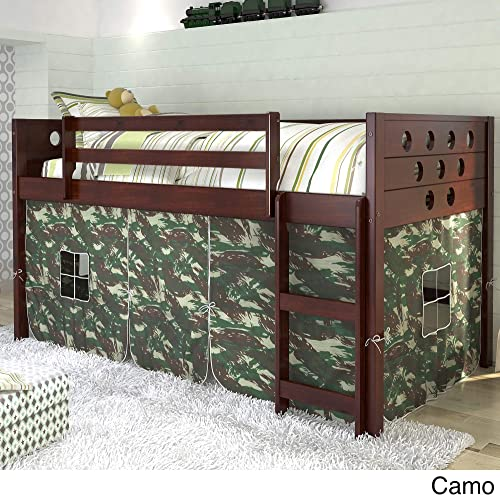 Twin Circles Low Camo Tent Loft Bed