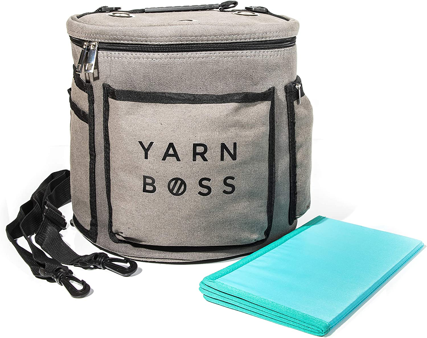 Yarn Boss Yarn Bag, Travel with Yarn and All Notions - Yarn Storage to Organize Multiple Projects and Keep Your Yarn Safe and Clean - Wide Grommets Stop Tangling for Best Crochet Bag or Knitting Bag