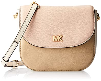 d34979d2d9ae Michael Kors Half Dome Pebbled Leather Crossbody Bag Oat Soft Pink:  Handbags: Amazon.com