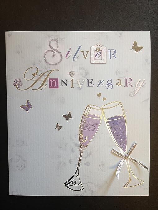 Bodas de plata (25), Tarjeta de felicitaciones de aniversario ...