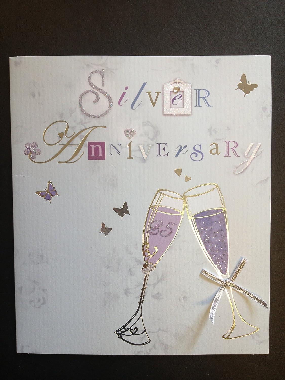 Amazon.com: Bodas de plata (25), tarjeta de felicitaciones ...