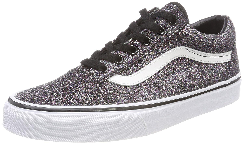 f1e1676ba3ae Vans Old Damen Old Vans Skool Sneaker Schwarz (Glitter) 1fa37c ...