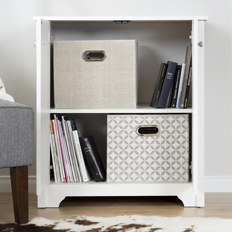 Amazon South Shore Vito Small 2 Door Storage Cabinet Pure
