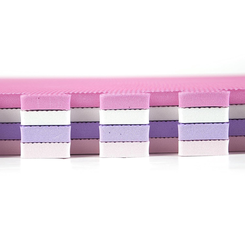 Tadpoles 24 Playmat 4 Piece Set Pink//Purple 50 x 50