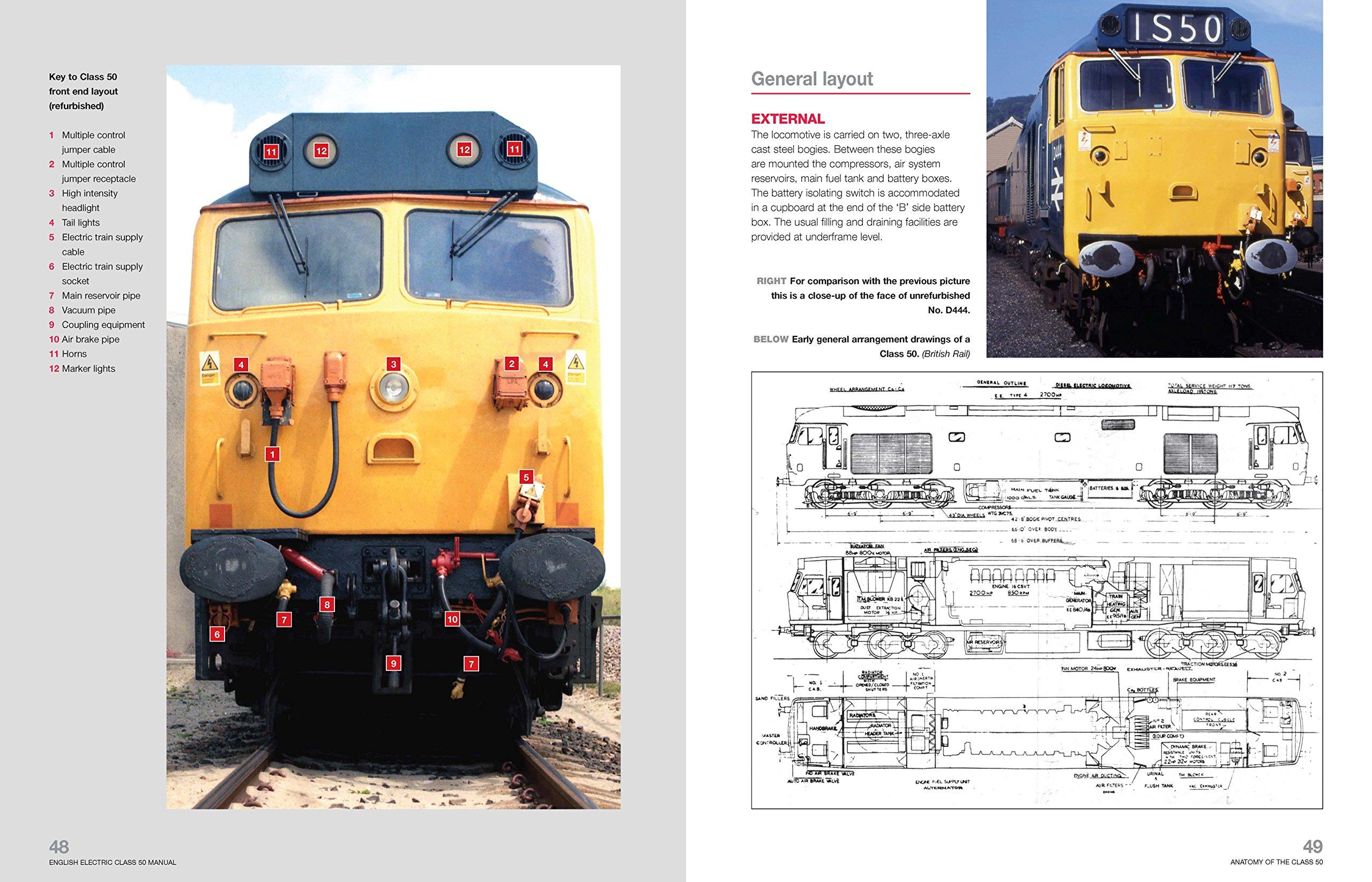 english electric class 50 diesel locomotive manual owners workshop rh amazon co uk Car Repair Manual Online Facility Manuals