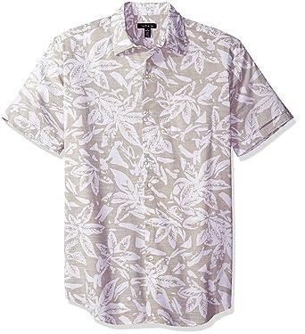 d29feb76 Van Heusen Men's Printed Slub Short Sleeve Shirt at Amazon Men's Clothing  store: