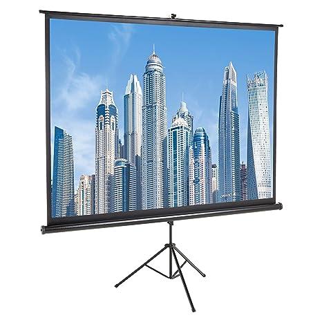 AmazonBasics - Pantalla de proyector de 100 pulgadas (254 cm) 4K ...