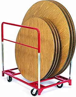 "product image for Raymond 3701 Steel Standard Round Folding Table Mover with 5"" x 2"" Phenolic Caster, 1600 lbs Capacity, 48"" Length x 32-3/4"" Width"