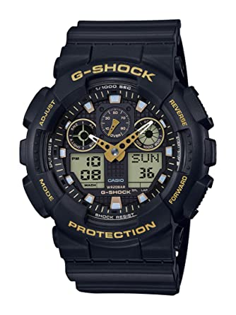 Analog Digital Bar 1a9er Ga Casio 100gbx G Gelb Schwarz20 Shock Herrenarmbanduhr SqUpGzMV