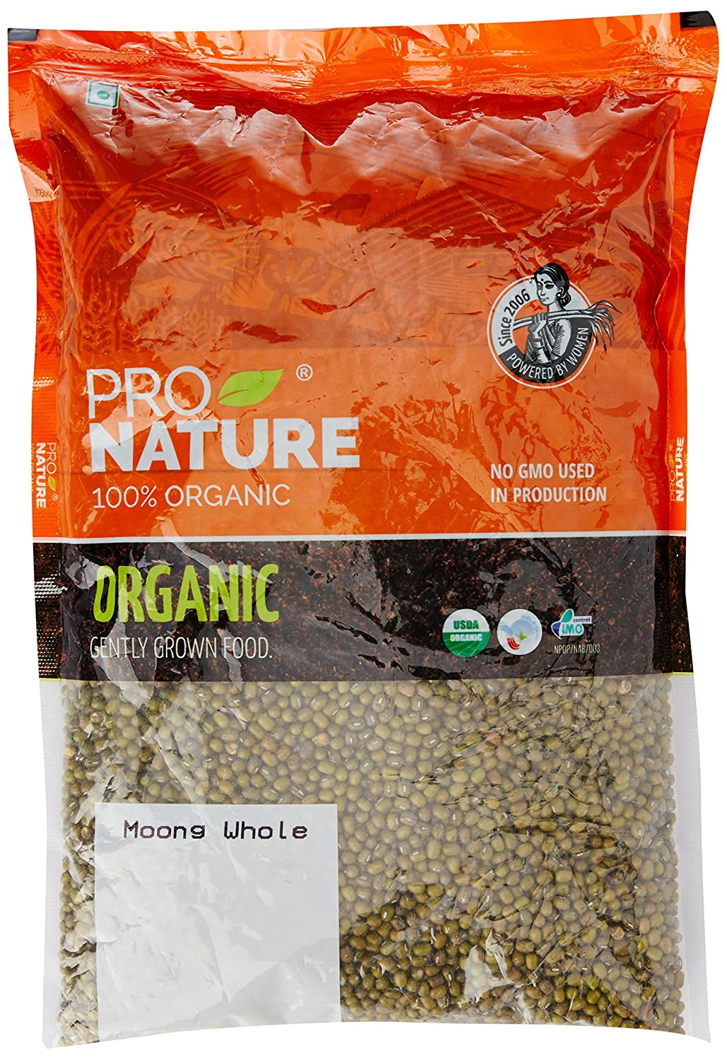 Pro Nature 100% Organic Moong Green Whole