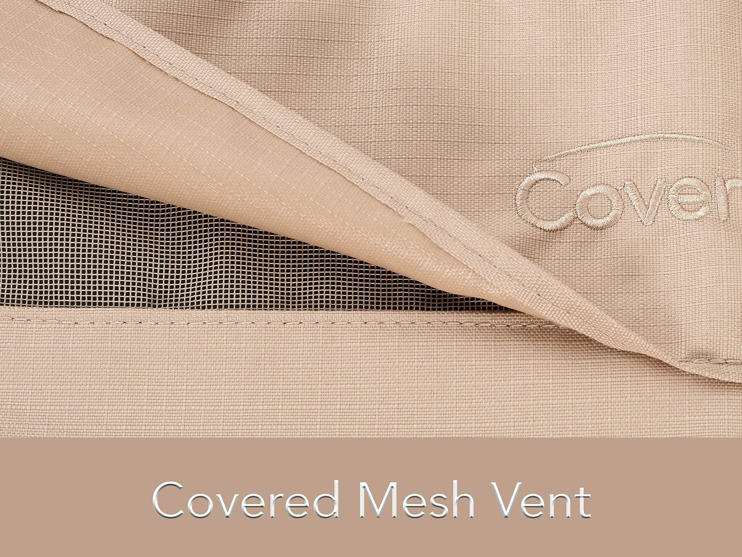 CoverMates - Outdoor Patio Bench Covers - Fits 58 in Width, 40 in Depth and 40 in Height - Ultima Ripstop - 600D Fade Resistant Poly - Breathable Covered Ventilation - 7 YR Warranty - Ripstop Tan by CoverMates (Image #2)