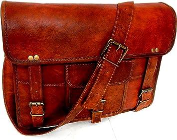Bolso de hombre bandolera cuero legítimo genuine leather Messenger Bag men