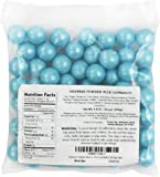 Shimmer Pearlescent Powder Blue 1 Inch Gumballs 1LB Bag
