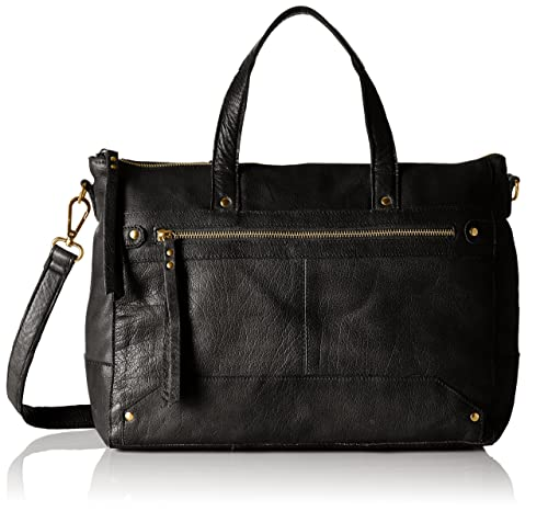 PIECES - Pcnara Leather Bag, Carteras de mano con asa Mujer, Schwarz (Black), 13x34x43 cm (B x H T): Amazon.es: Zapatos y complementos