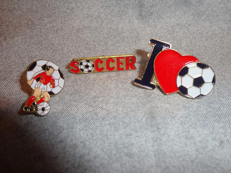 Amazon.com JS I Love Soccer Sports PIN TIE TACK Set Home & Kitchen