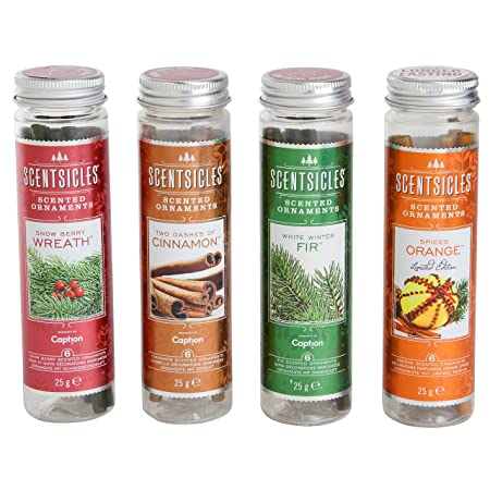 scentsicles scented ornaments hanging christmas tree decorations xmas festive scent sticks cinnamon 3 tubes