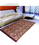 "Warmland Floral Velvet Carpet - 60""x84"", Coffee"