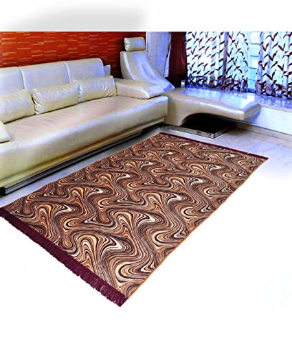 Warmland Floral Velvet Carpet - 60x84, Coffee