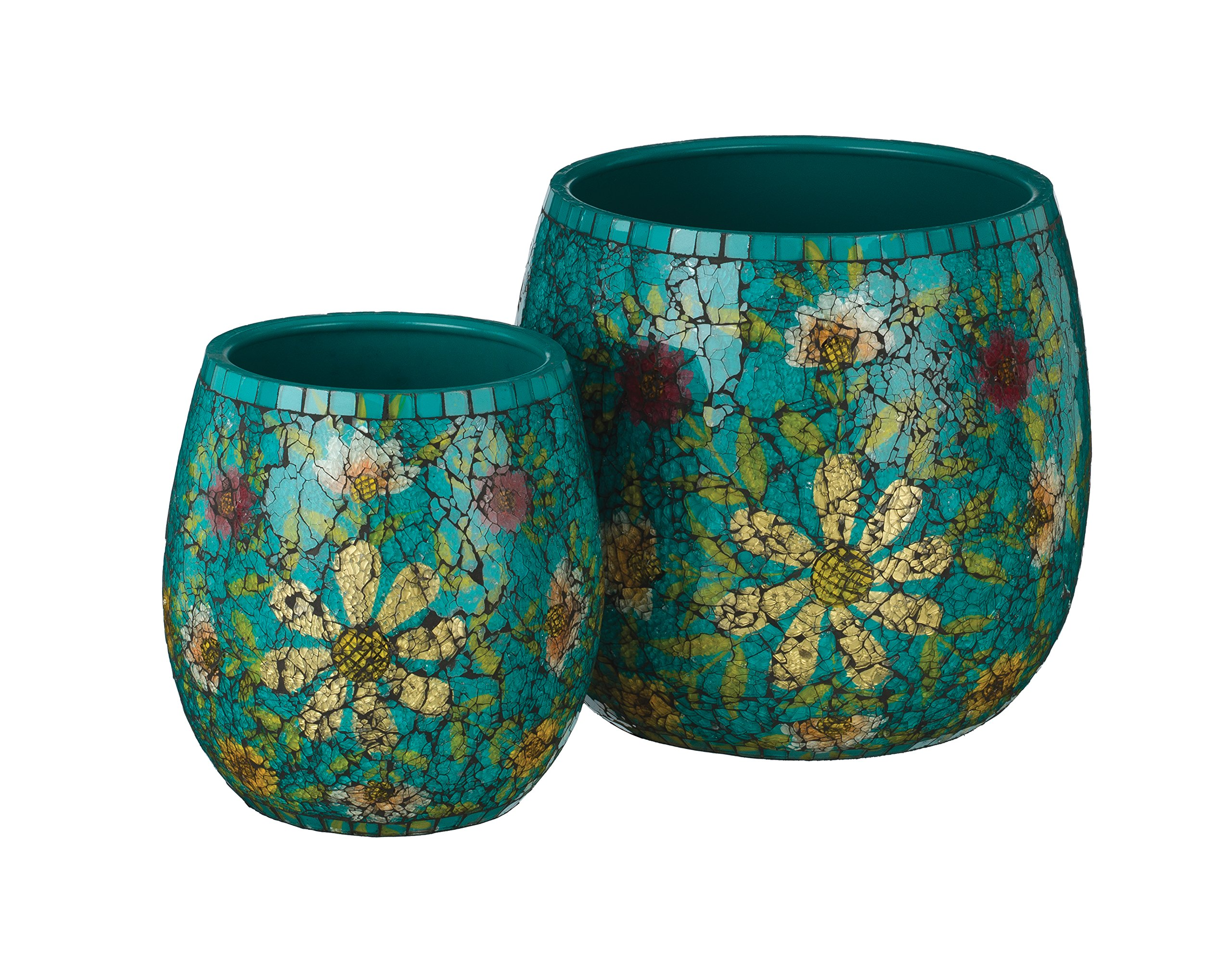Regal Art & Gift Mosaic Planter (Set of 2), Teal