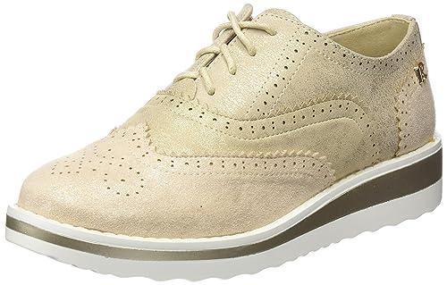 Refresh 64065, Zapatos de Cordones Oxford para Mujer, Dorado (Oro), 37 EU