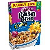 Kellogg's Raisin Bran Crunch, Breakfast Cereal, Original, Good Source of Fiber, Family Size, 24.8 oz Box