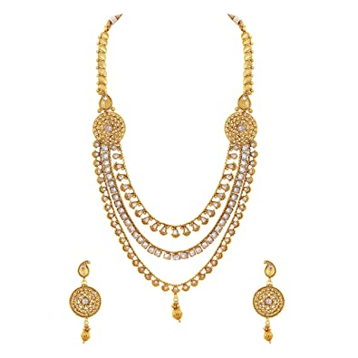 Buy Asmitta Traditional Gold Plated Opera Style 3 String Copper ...