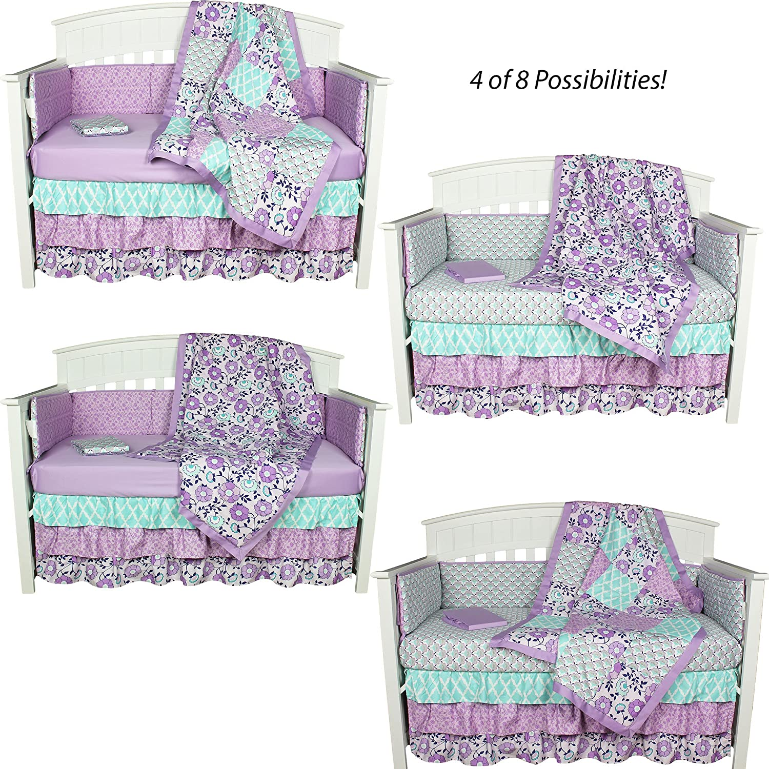 img bedding nursery baby custom product romantic blooms girls category cribs lottiedababy crib vintage floral set for girl