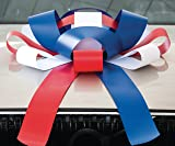 "CarBowz Big Patriotic, Red White and Blue, Car Bow, Giant 30"" Bow, Non Scratch Magnet, Weather Resistant Vinyl"
