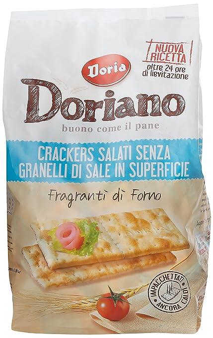 2 opinioni per Doriano- Crackers Salati senza Granelli di Sale in Superficie, Fragranti di