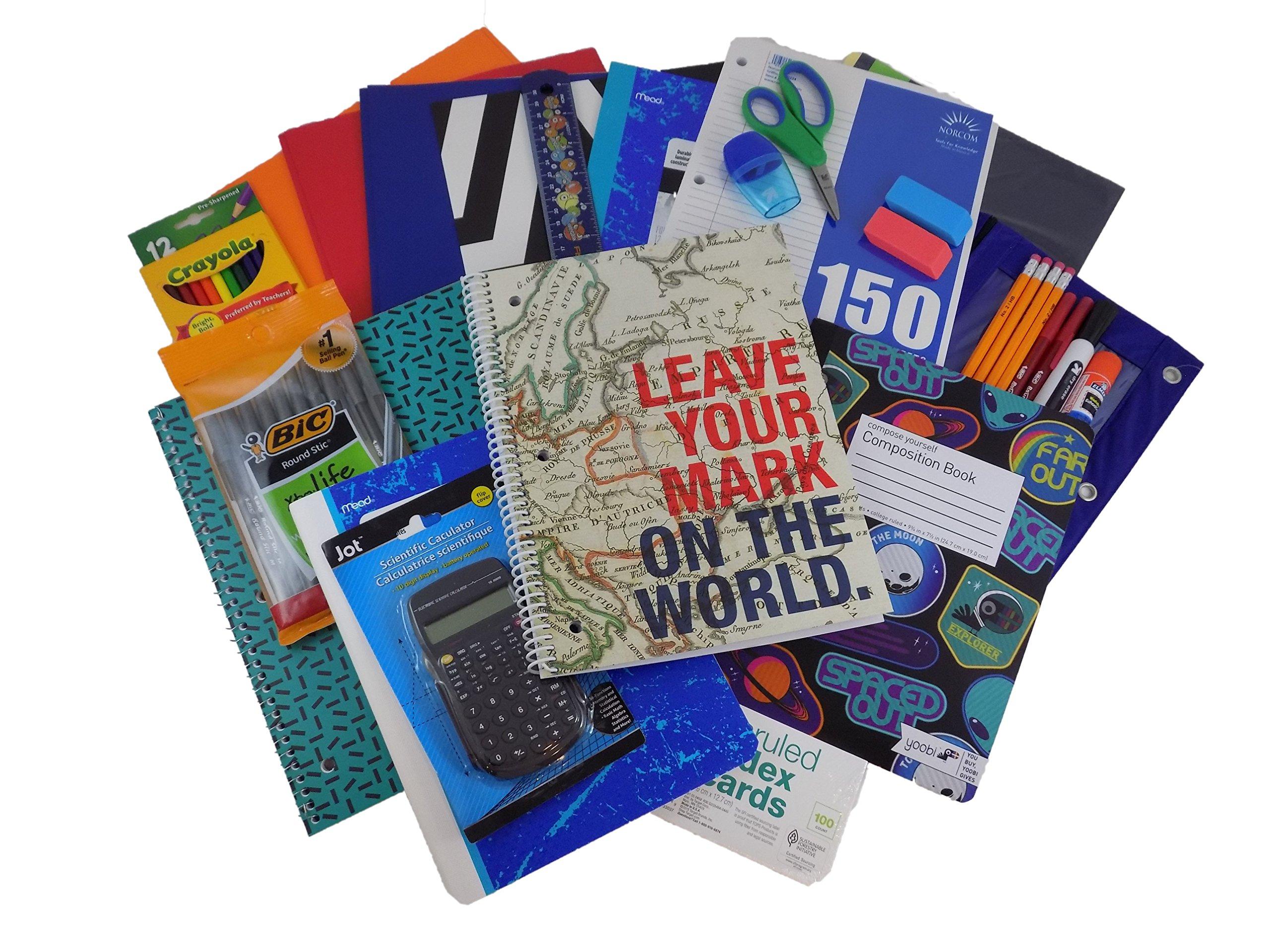 Cool Teen Boy Mega Back to School Supply Complete Bundle Kit
