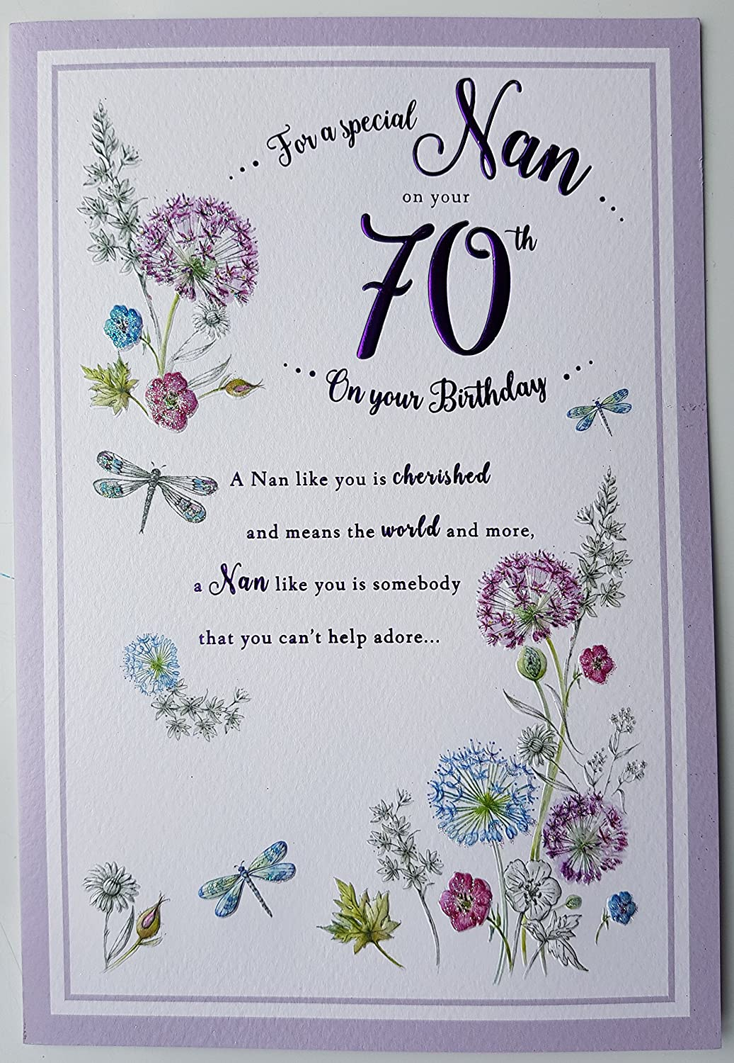 For A Special Nan On Your 70th Birthday Card Amazoncouk Office Products