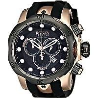 Invicta Mens Quartz Watch, Analog Display and Rubber Strap 0361