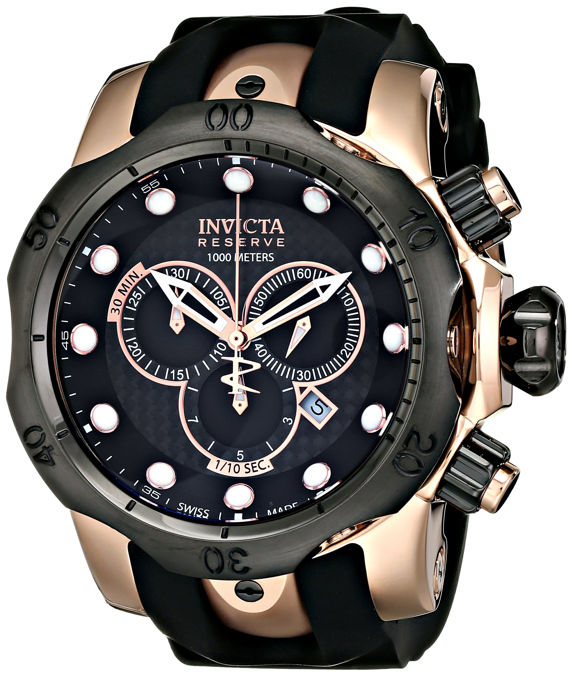 Invicta Men's 0361 Reserve Collection Venom Chronograph 18k Rose Gold-Plated Stainless Steel Watch by Invicta