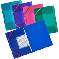 Snopake Filelastic A4 Electra Assorted Colours - Pack of 5