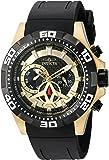 Invicta Men's 'Aviator' Quartz Stainless Steel and Polyurethane Watch, Color:Black (Model: 21739)