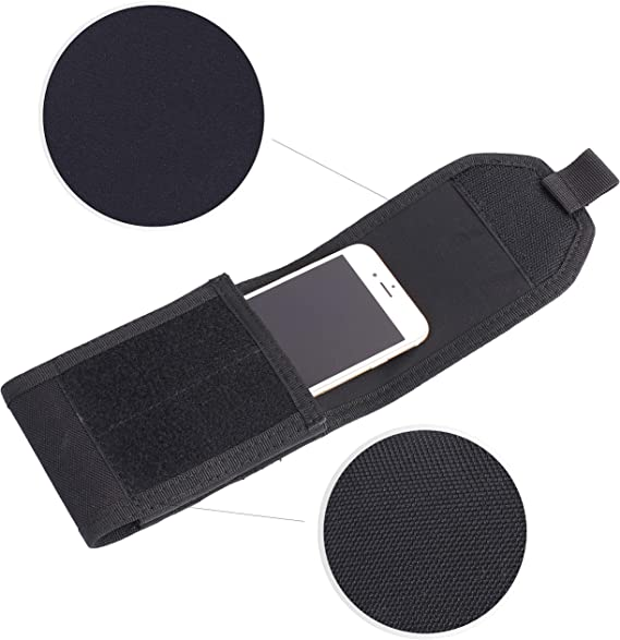 LefRight - Funda móvil con correa para cinturón, de nailon, diseño militar táctico EDC